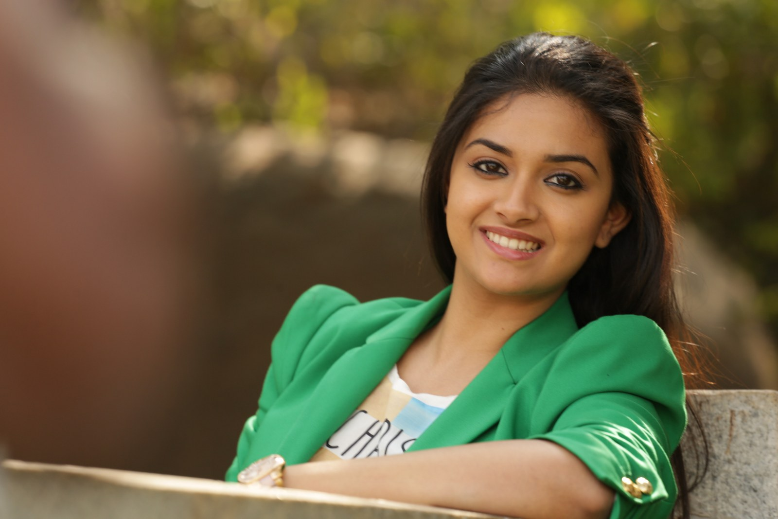 Keerthy suresh green dress images
