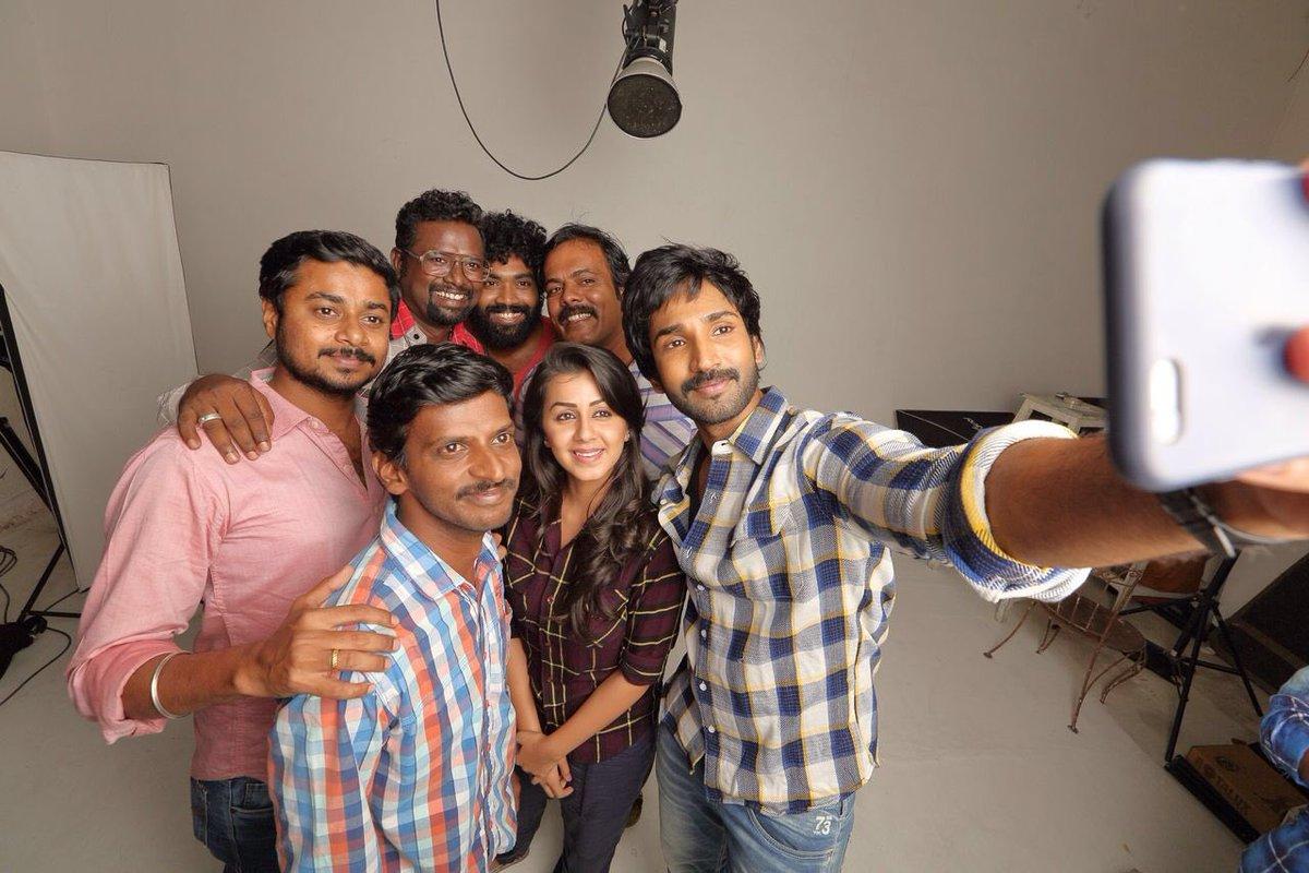 Maragatha naanayam movie team photos