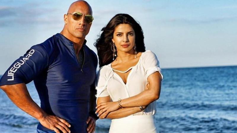 Priyanka chopra dwayne johnson in baywatch film