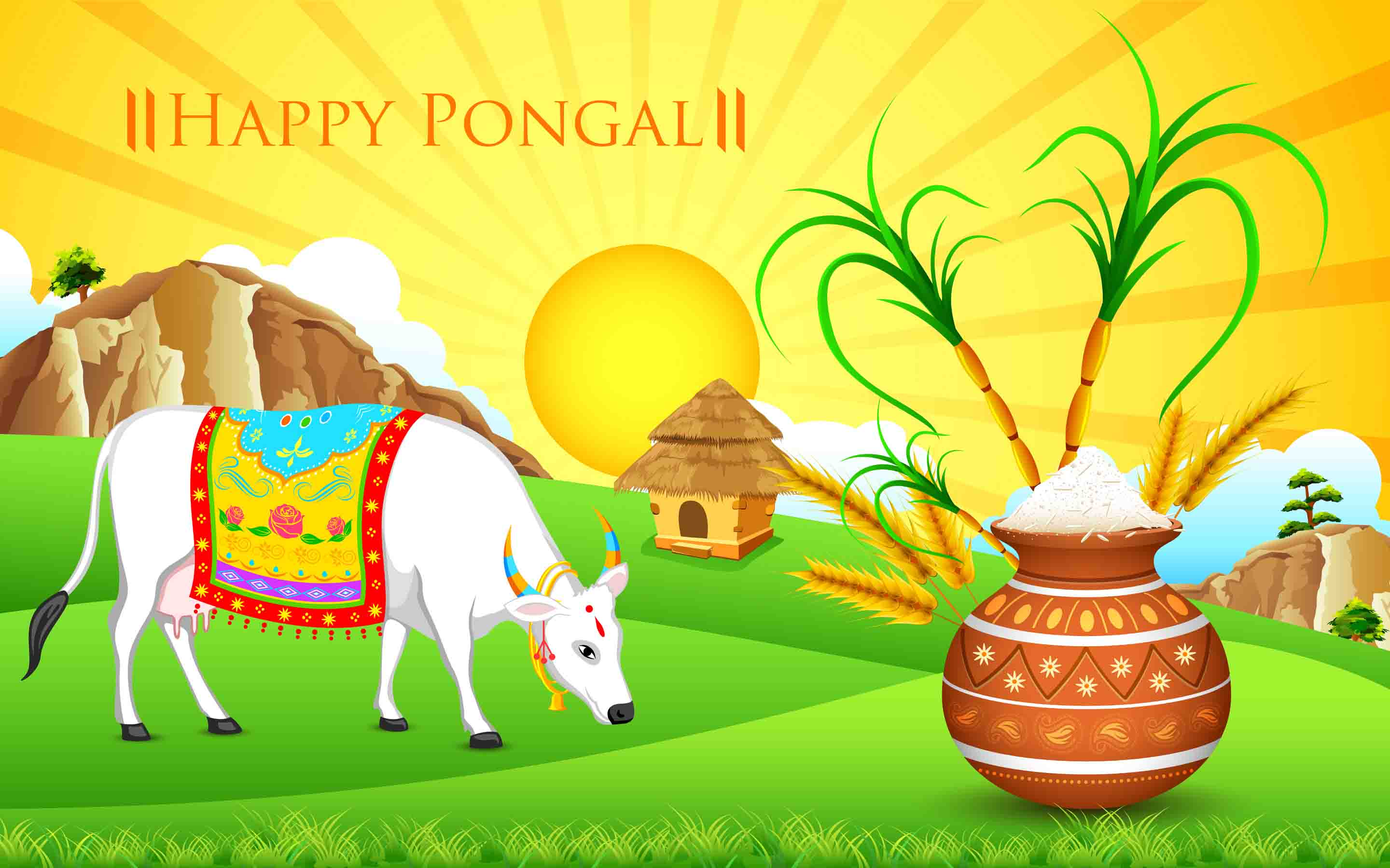 Cute mattu pongal pictures