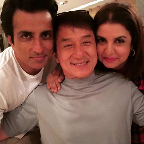 Jackie chan sonu sood selfie photos in kung fu yoga