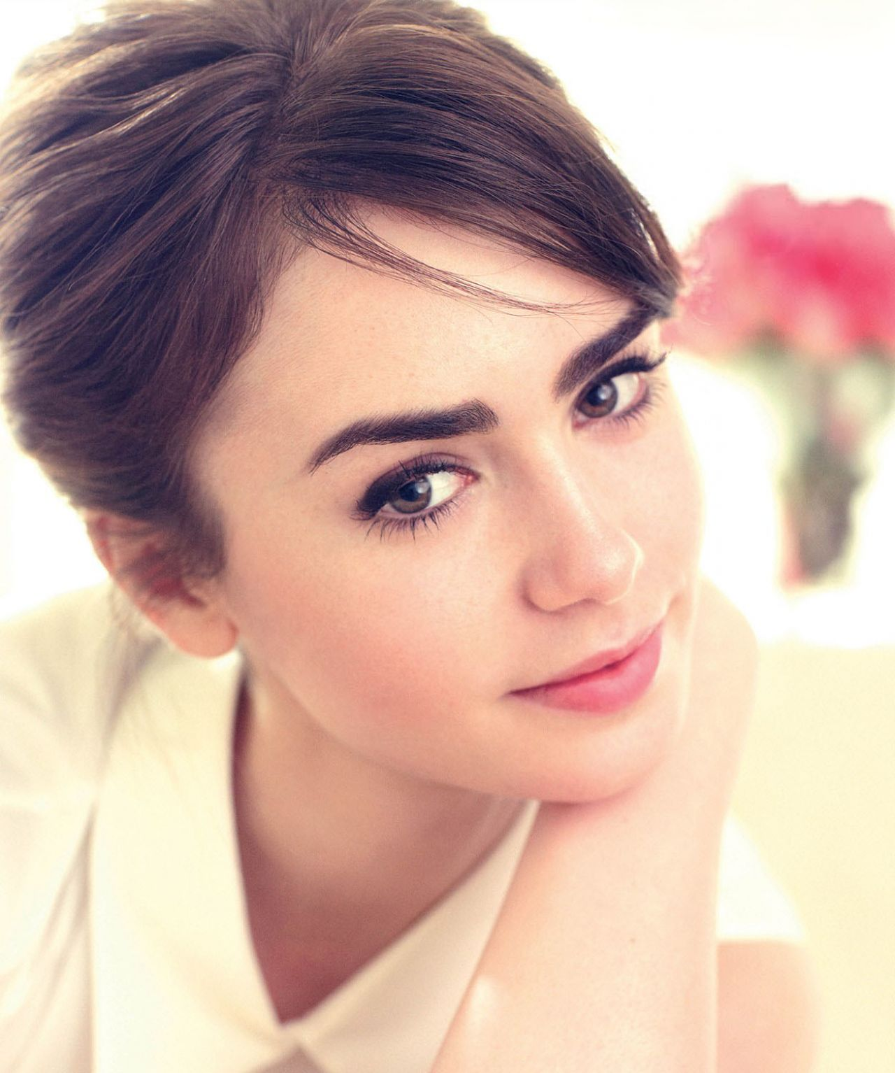 Lily collins face wallpapers