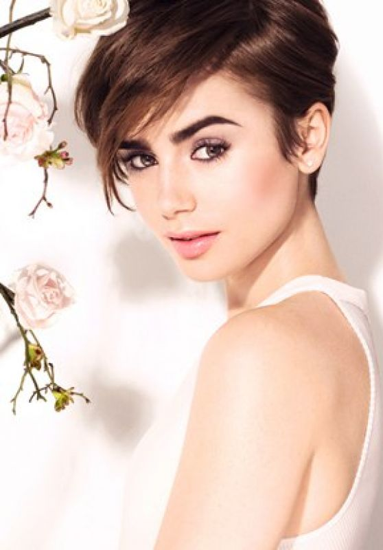 Lily collins hair style photos