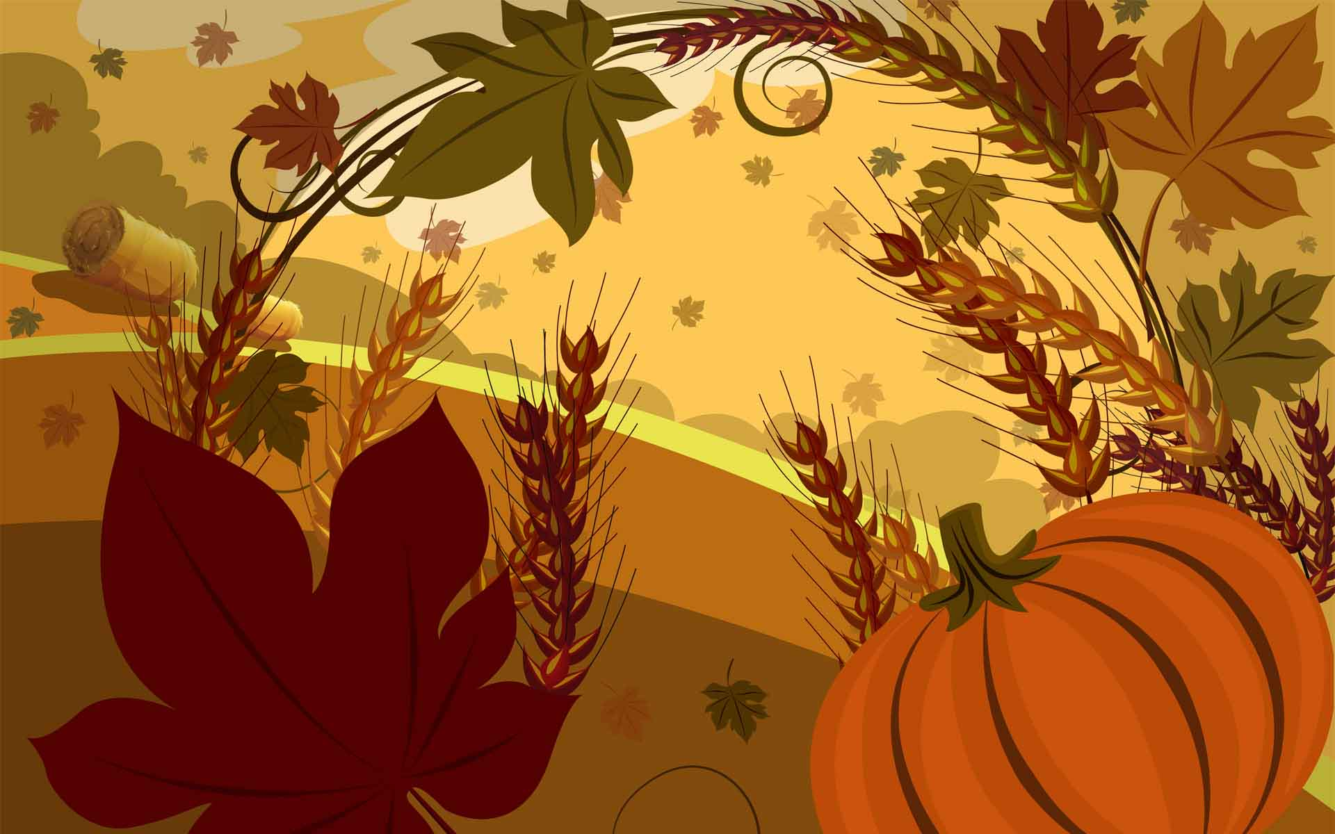 Thanksgiving day art wallpapers
