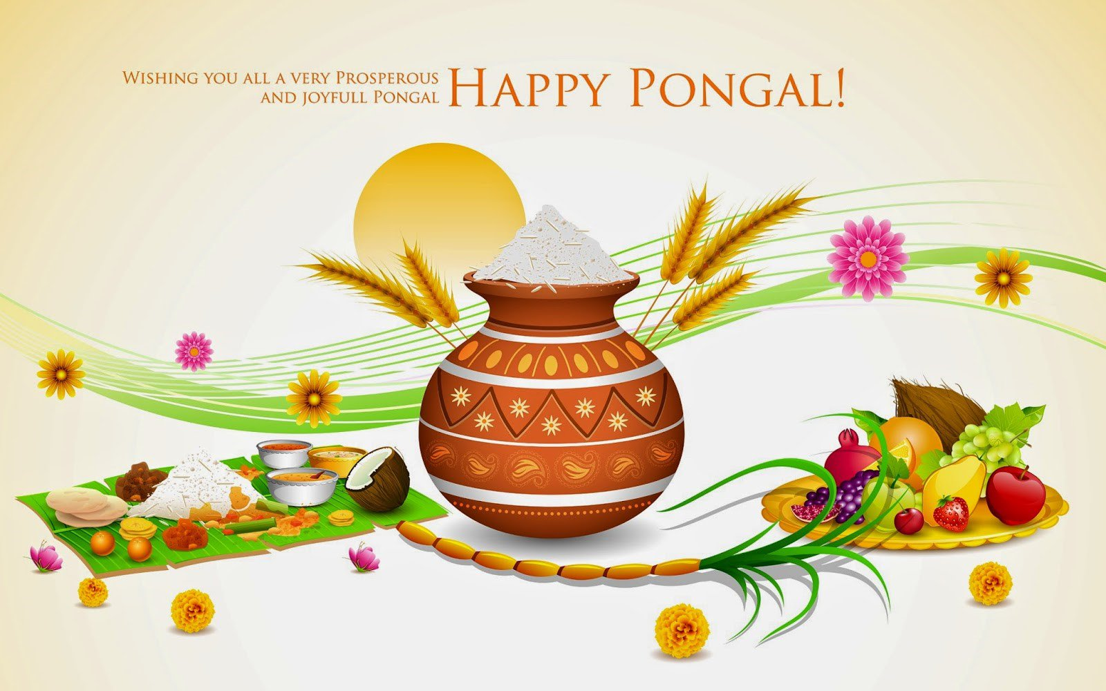 Wish you happy thai pongal photos