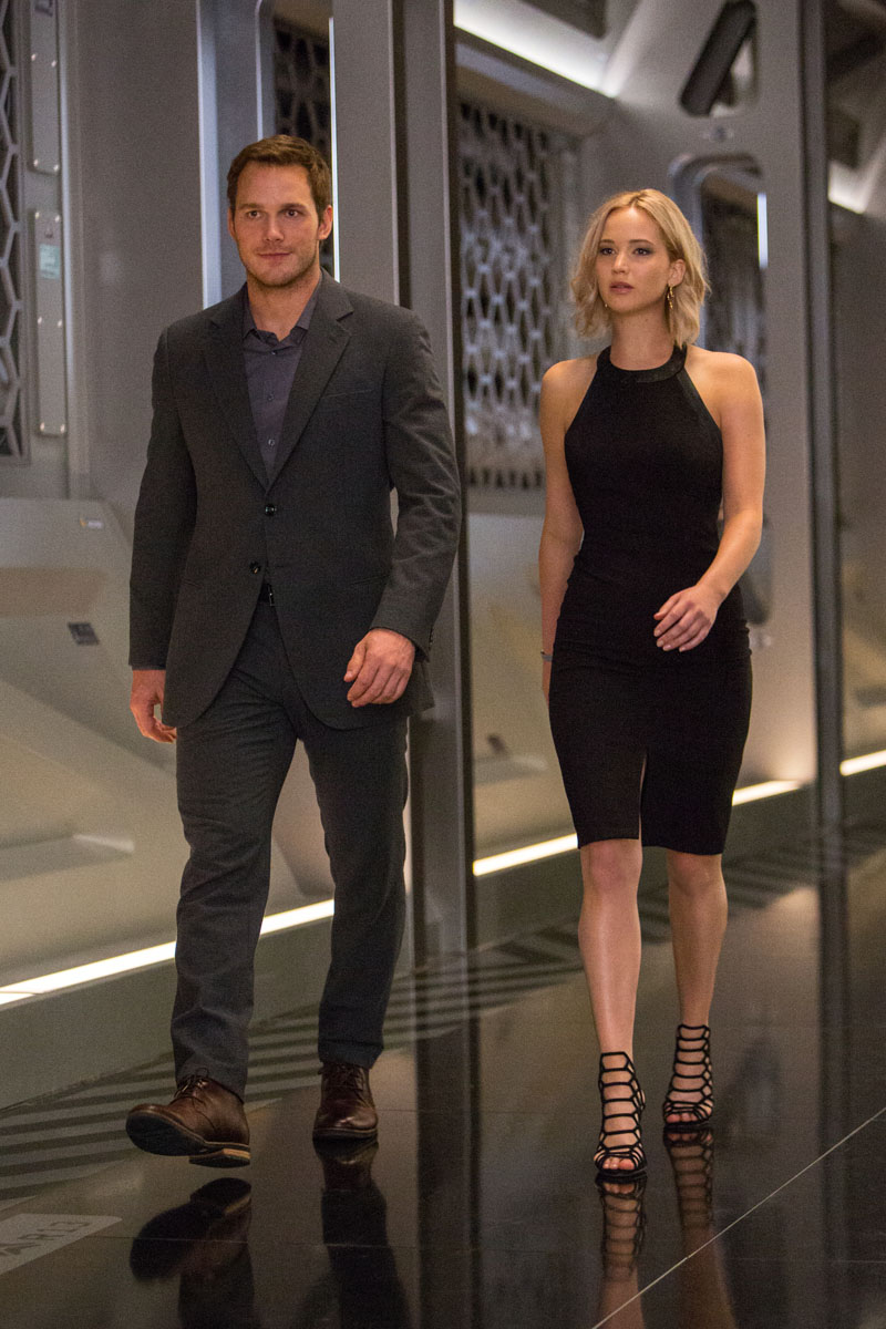 Jennifer lawrence chris pratt in passengers film