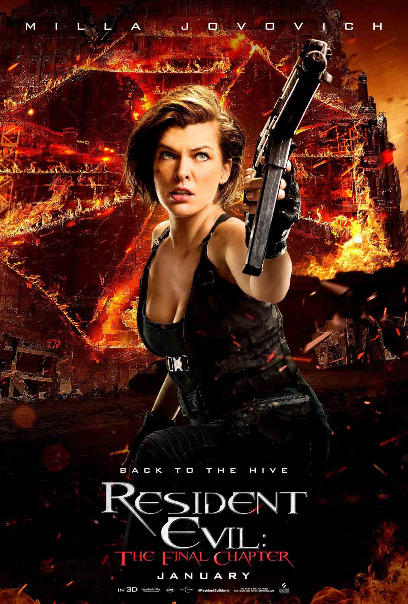 Milla jovovich resident evil the final pictures