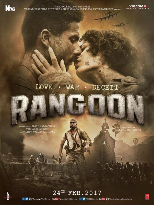 Rangoon hindi movie poster