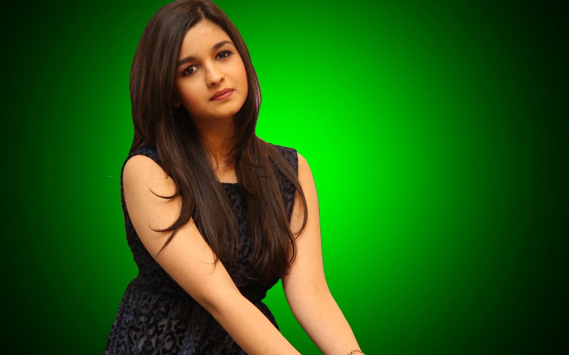 Alia bhatt black dress wallpaper
