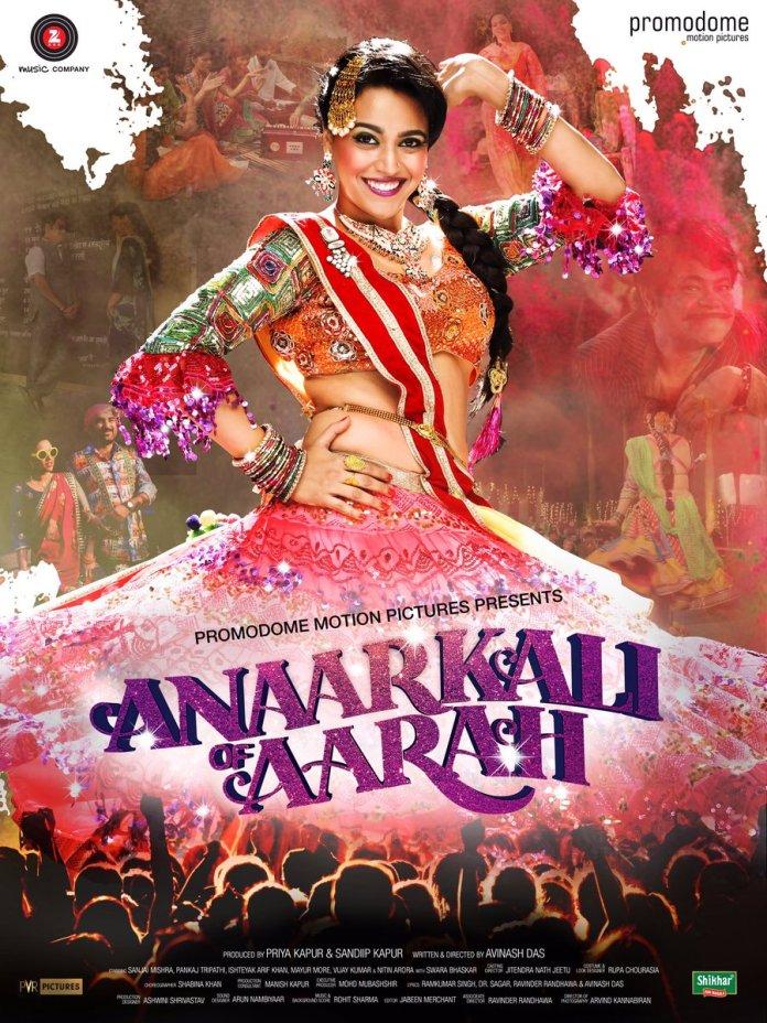 Anaarkali of aarah swara bhaskar poster