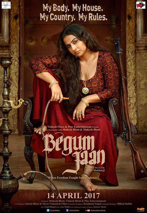 Begum jaan vidya balan poster