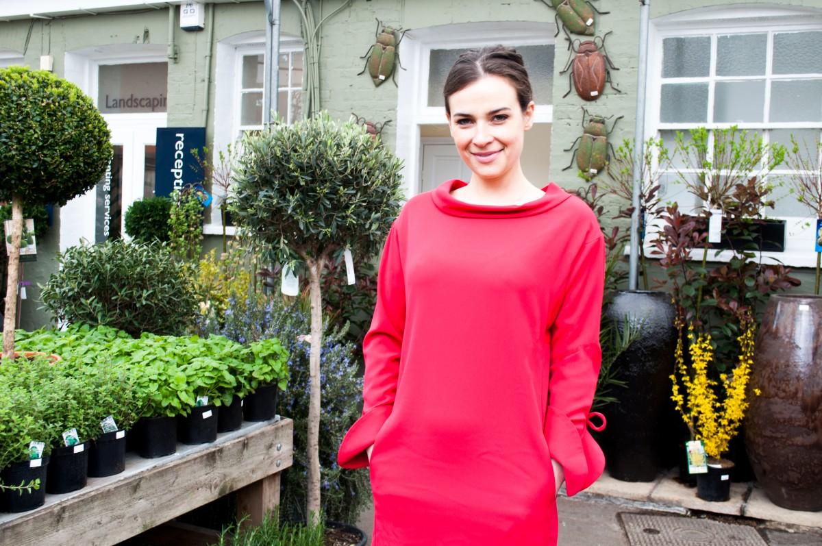 Camilla arfwedson red color dress photos