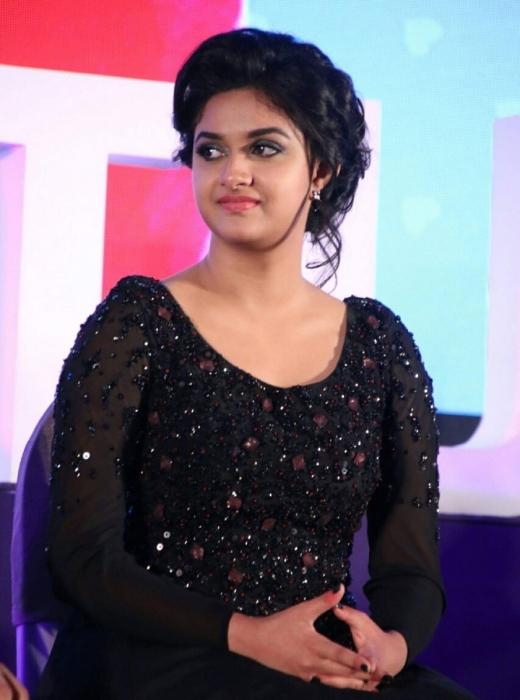 Keerthi suresh black dress beautiful stills