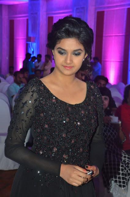 Keerthi suresh black dress cute stills