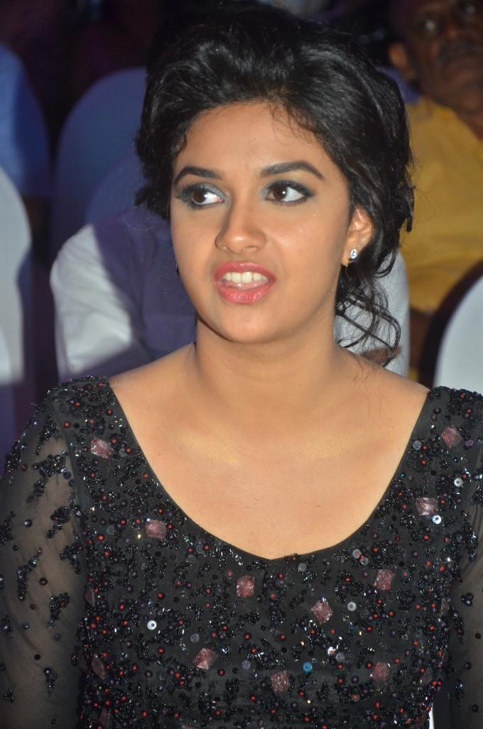 Keerthi suresh black dress image