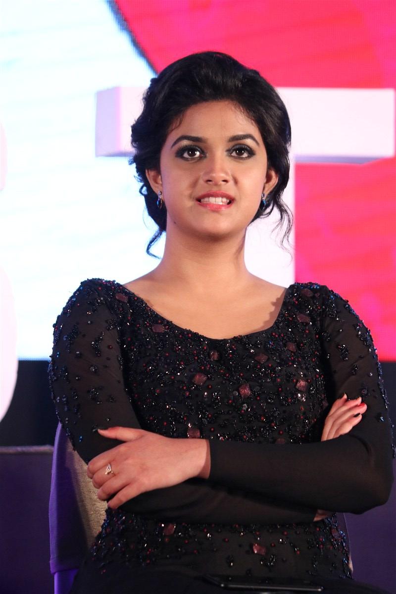 Keerthi suresh black dress photos