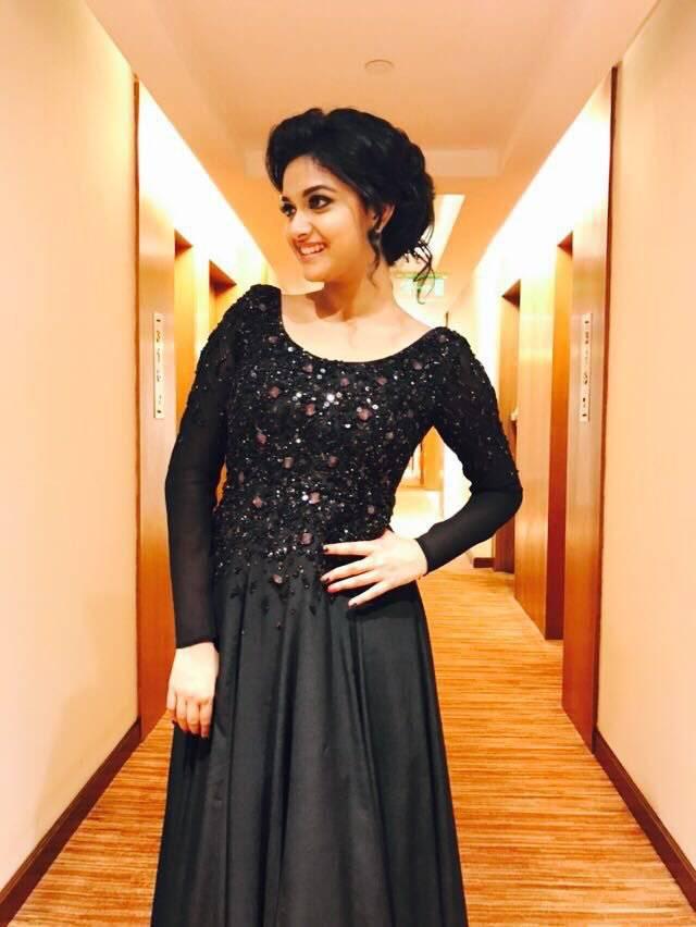 Keerthi suresh black dress pictures