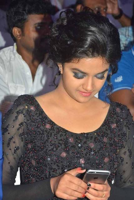 Keerthi suresh black dress wallpaper