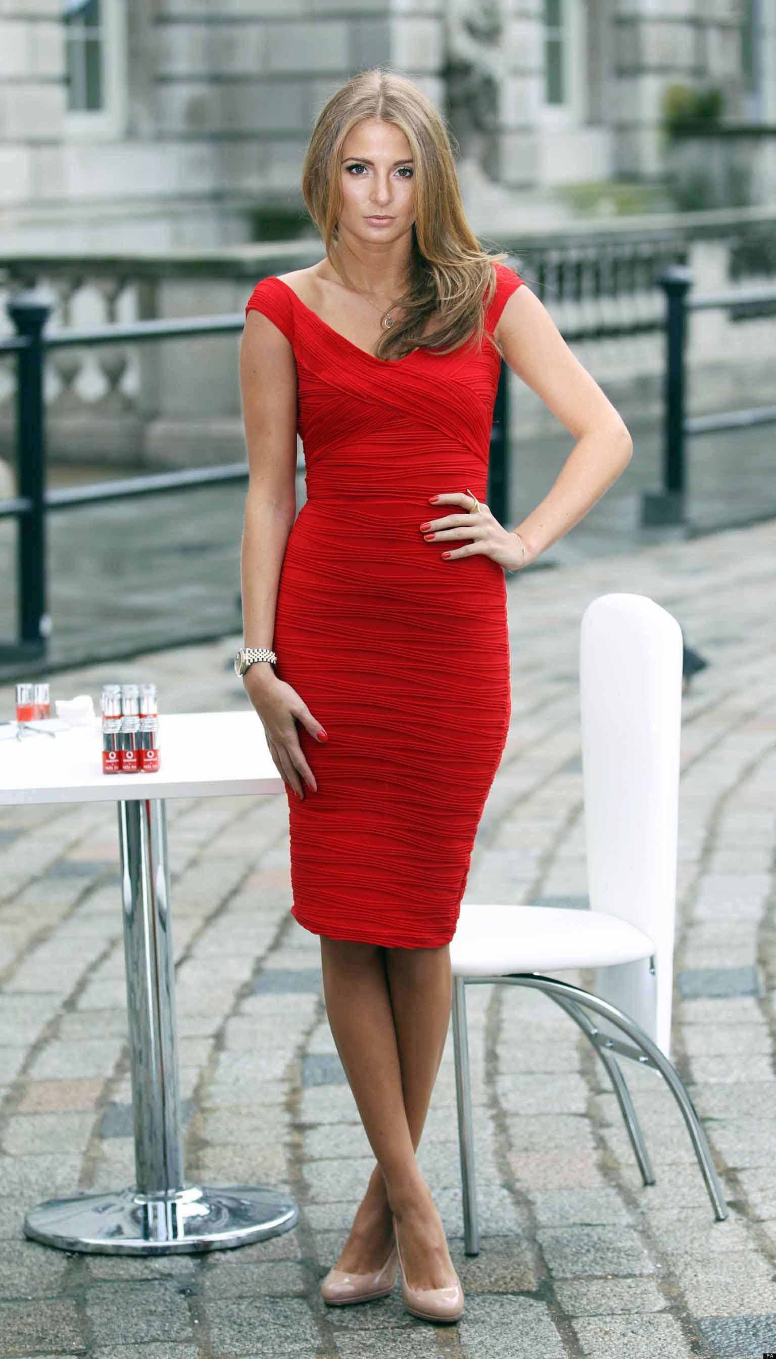 Millie mackintosh red color dress photos