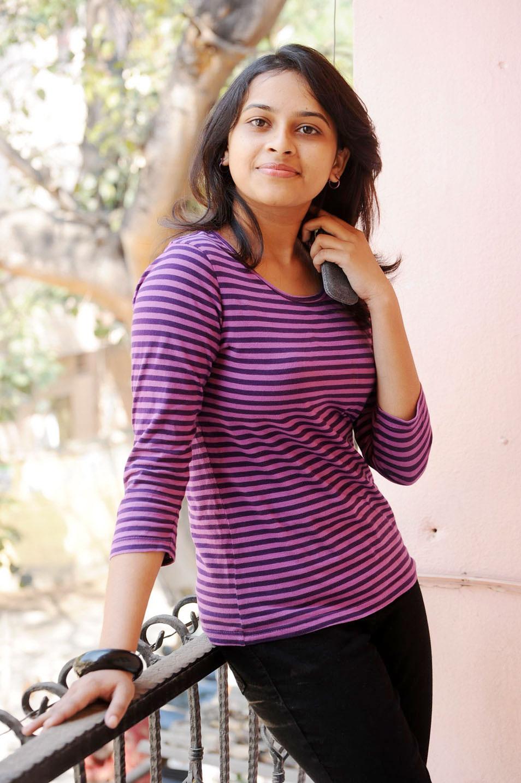 Sri divya purple color cute photos
