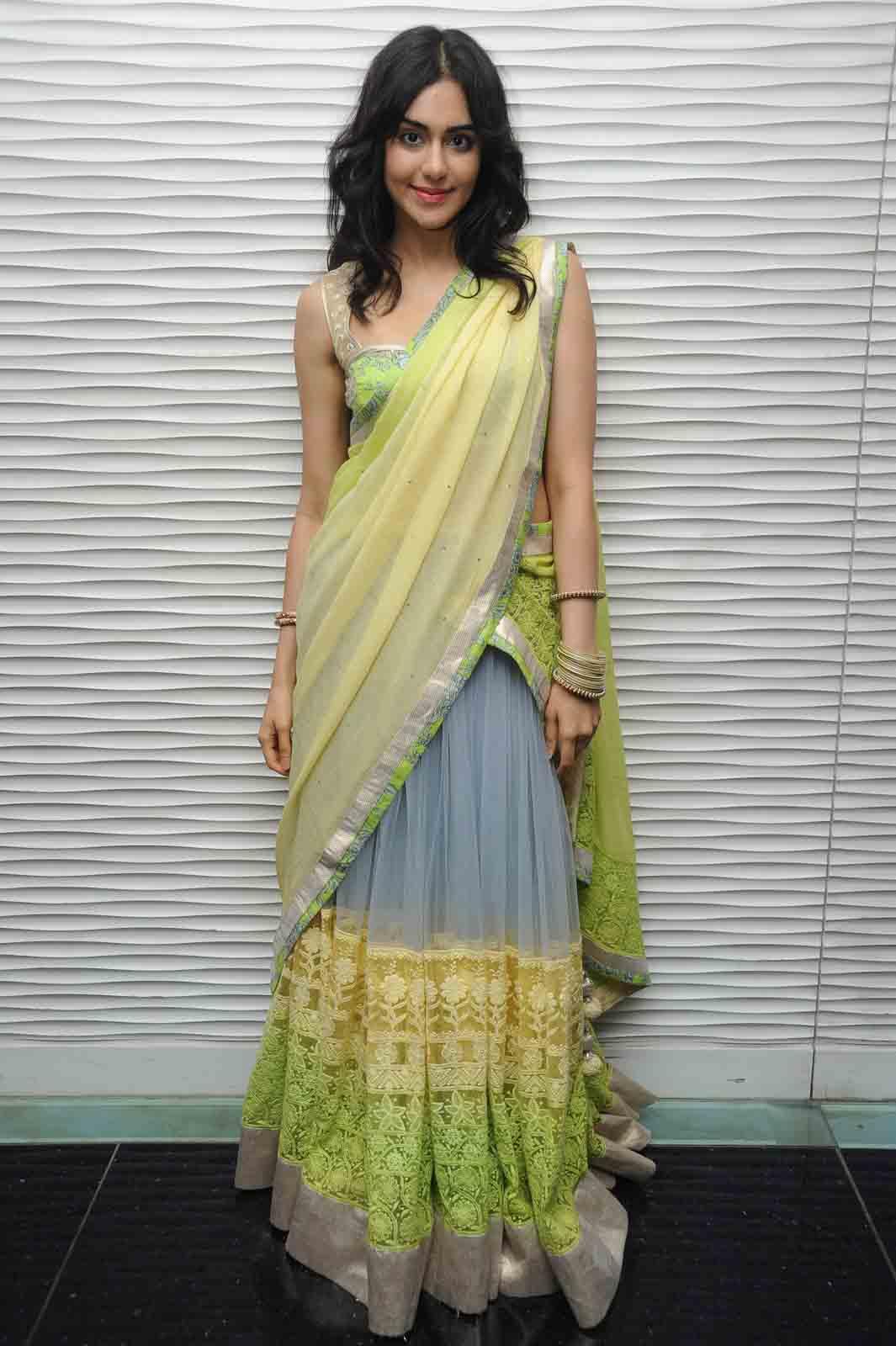 Adah sharma half saree photos