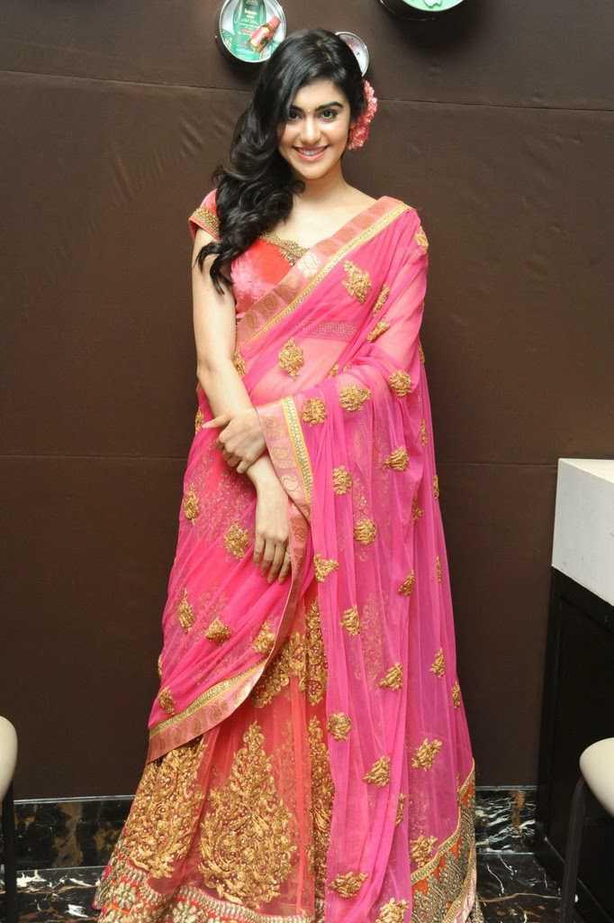 Adah sharma rose saree pictures
