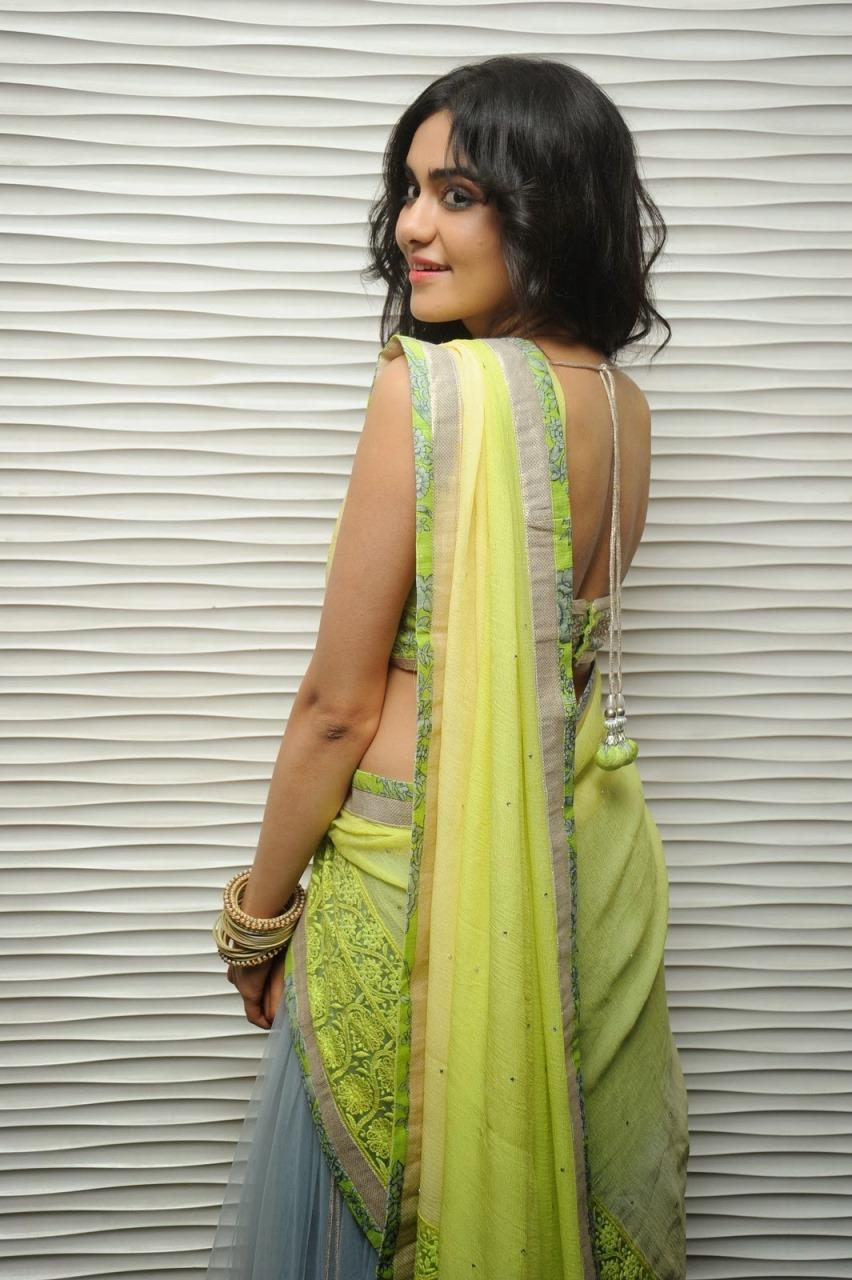 Adah sharma saree back side photos