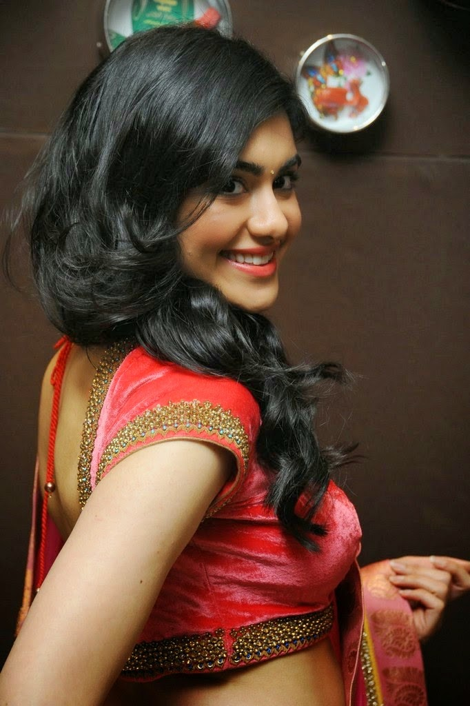 Adah sharma saree in cute pictures