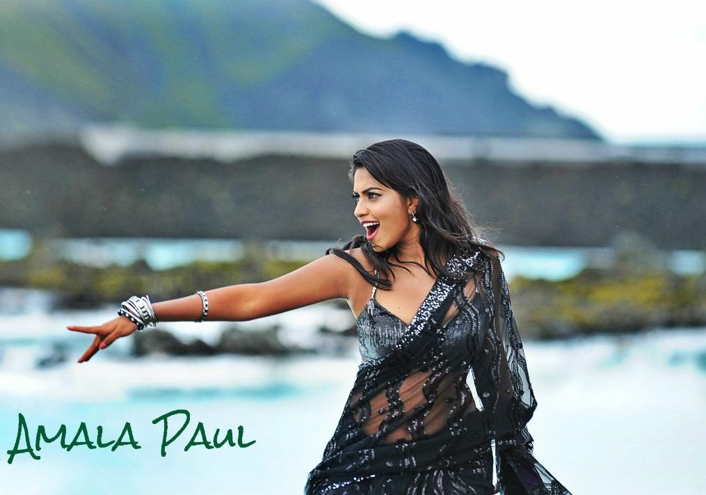 Amala paul black saree wallpaper