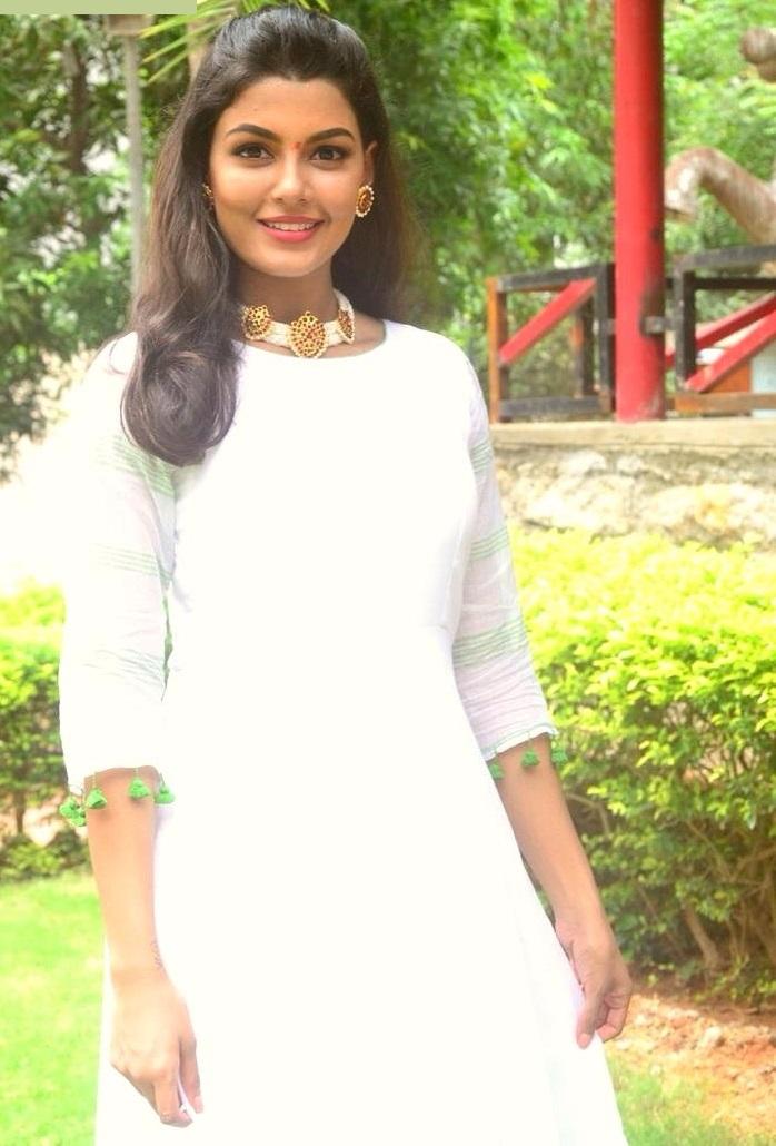 Anisha ambrose white dress pictures