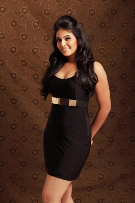 Anjali black dress cute face stills