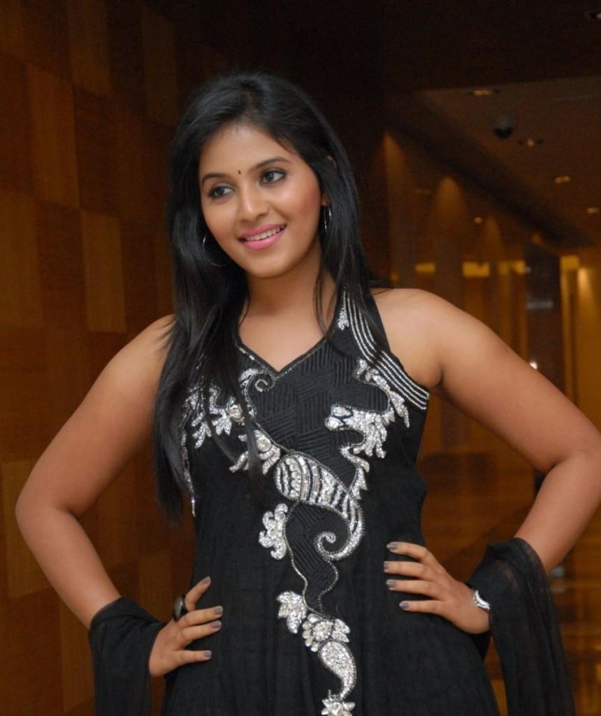 Anjali black dress desktop wallpaper