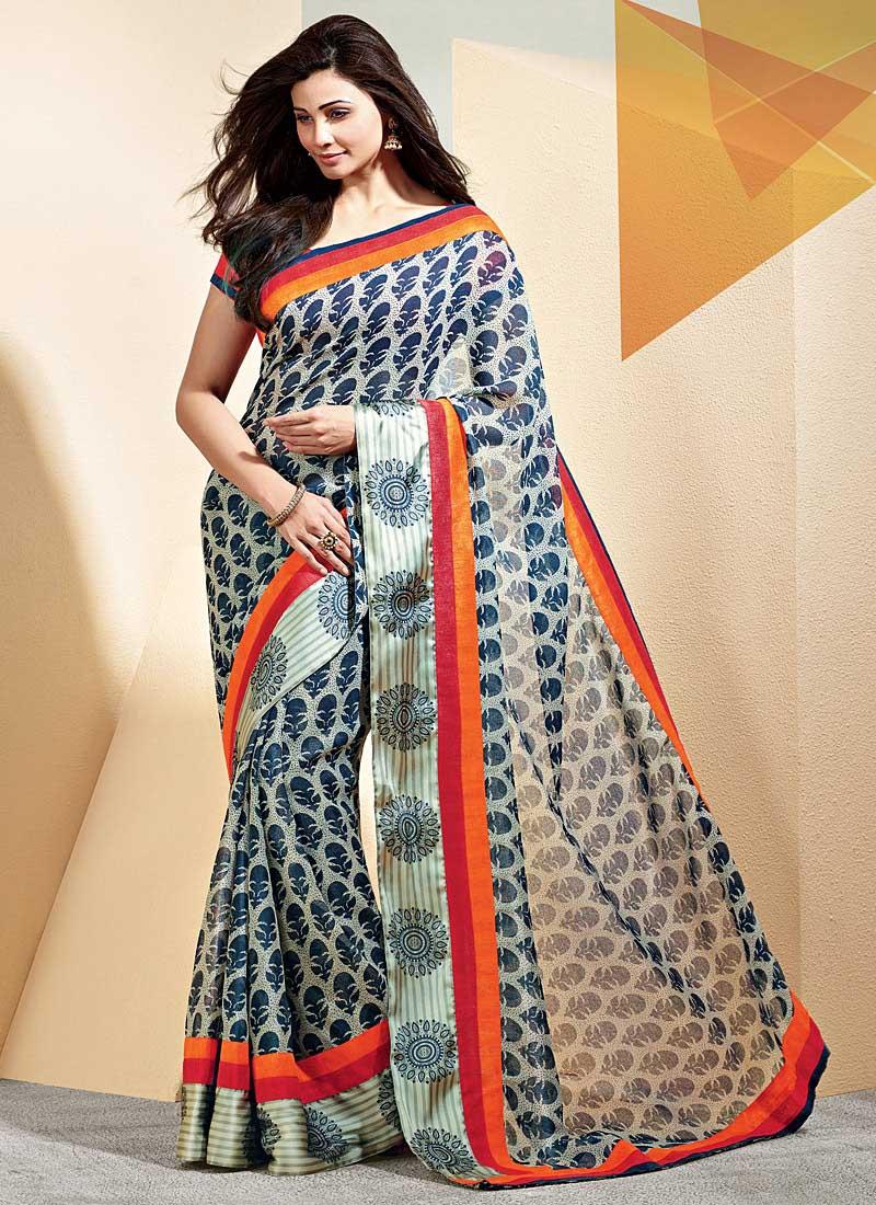 Daisy shah gray saree images