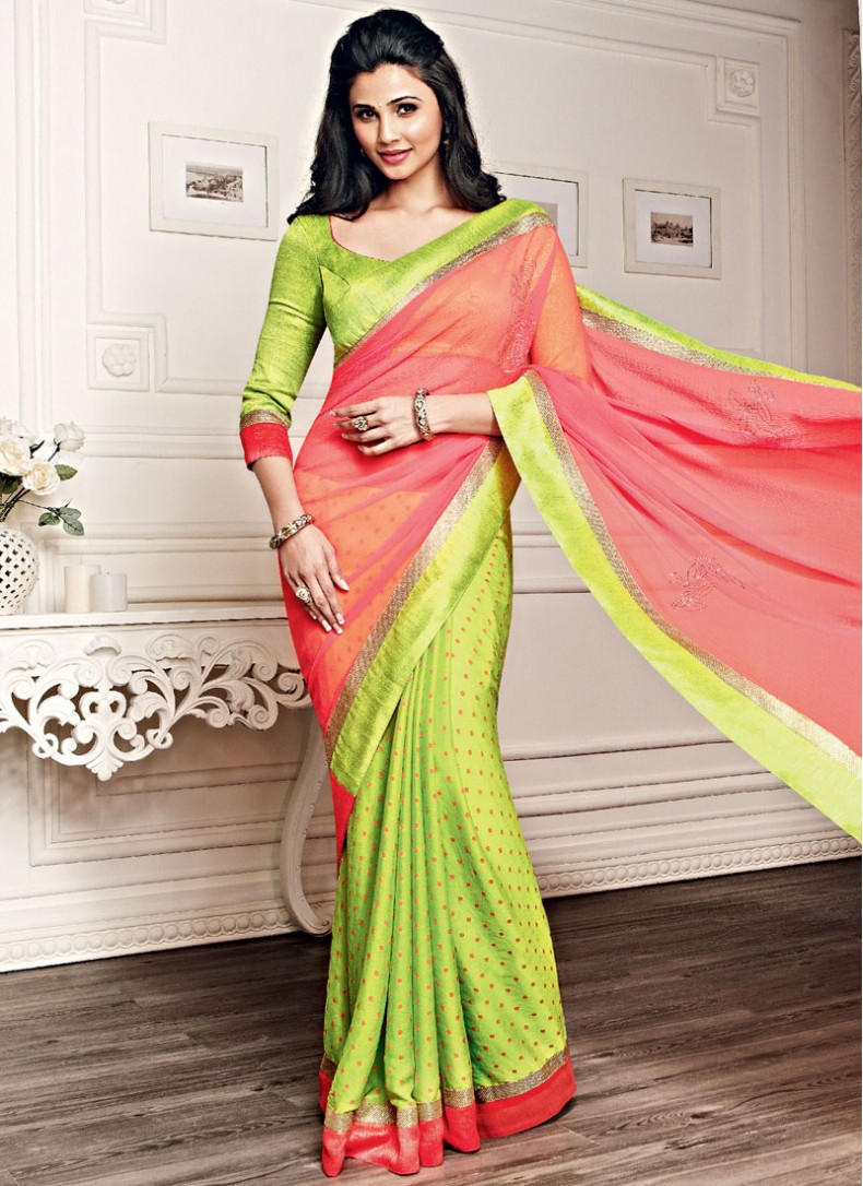 Daisy shah saree ad pictures