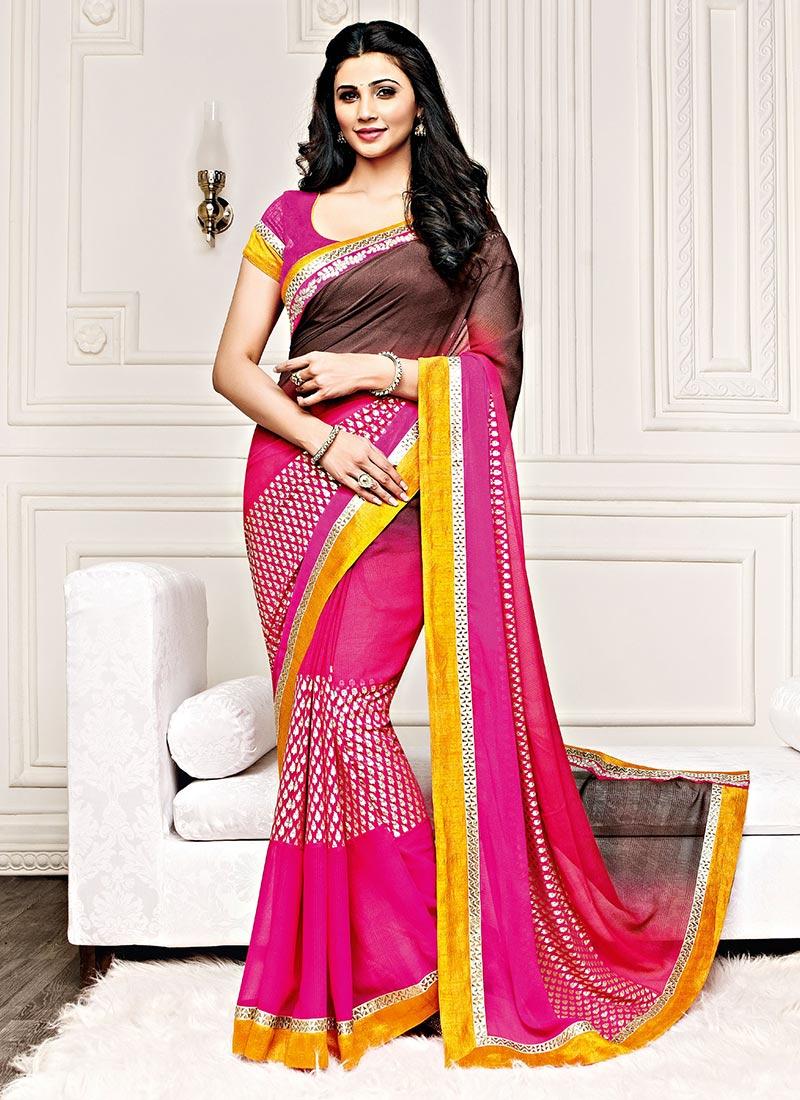Daisy shah saree pics