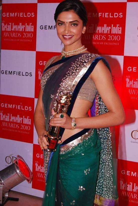 Deepika padukone green saree pictures