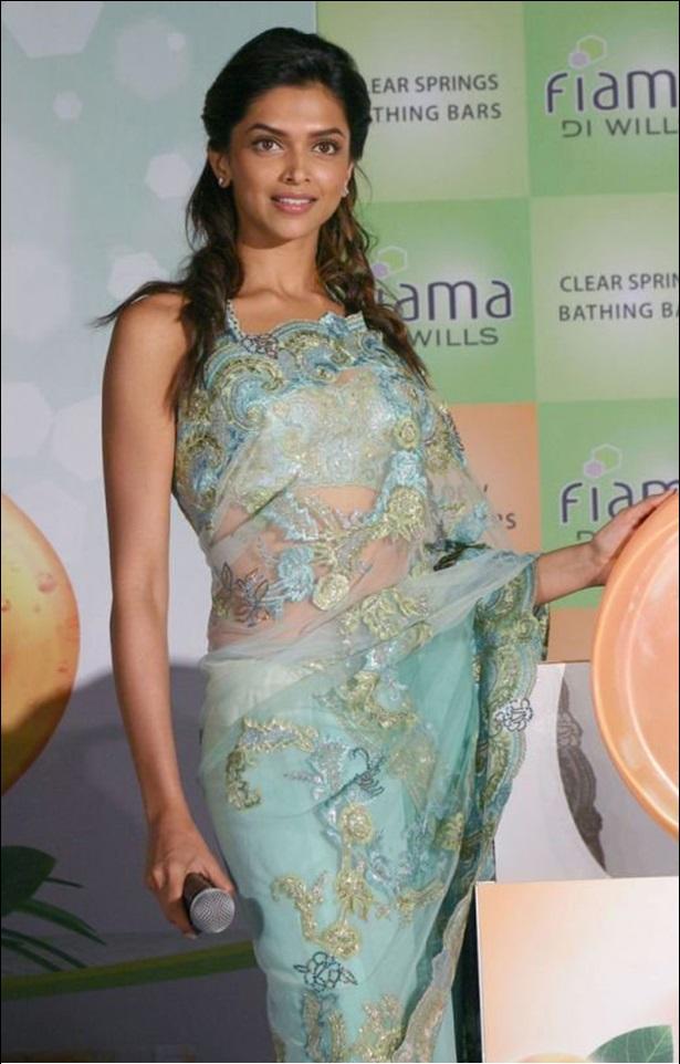 Deepika padukone lace saree pictures