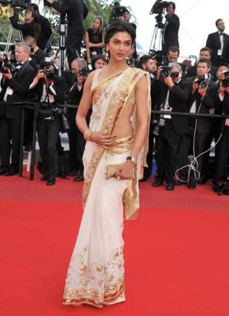 Deepika padukone white saree photos