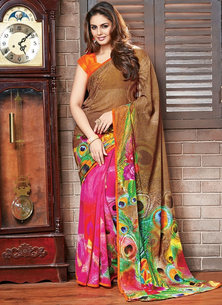 Huma qureshi saree photos