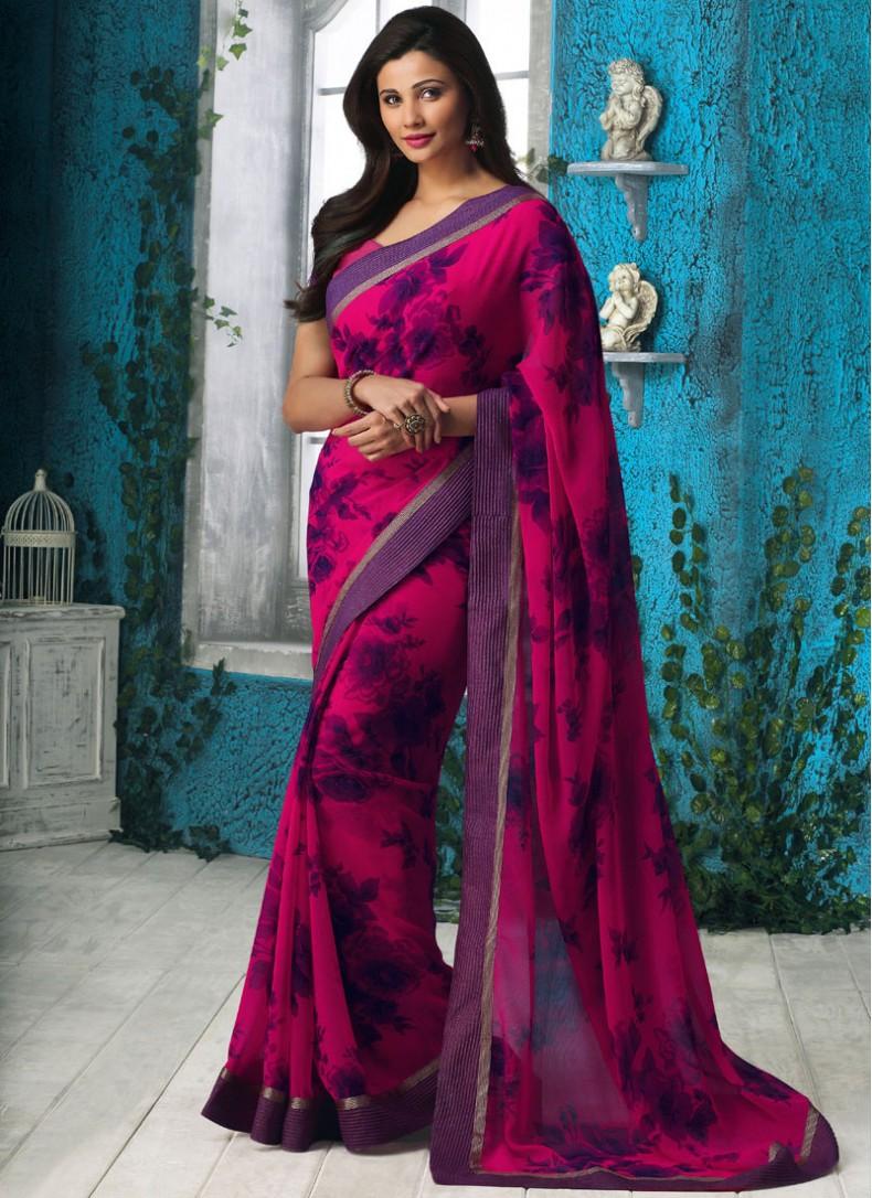 Indian actress daisy shah saree photos