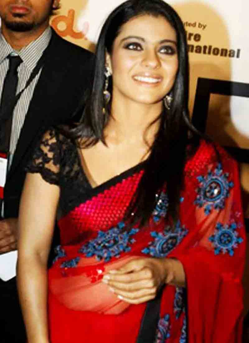 Kajol saree face pictures