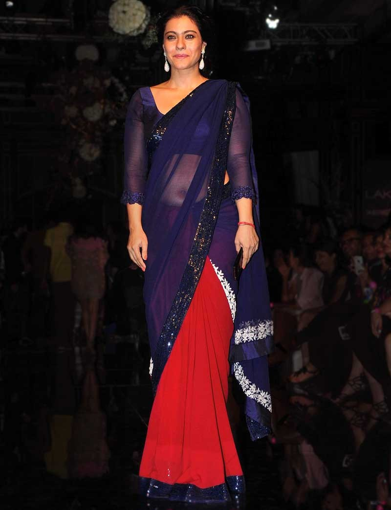 Kajol saree in public photos