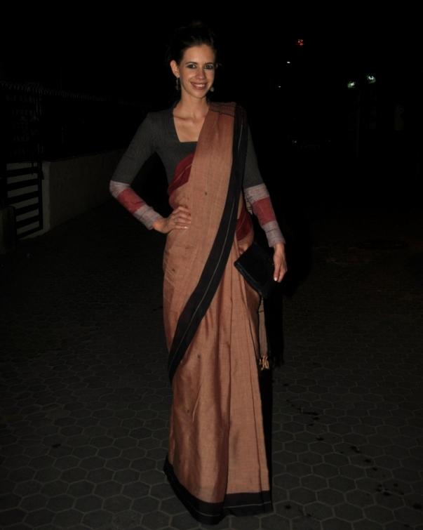 Kalki koechlin saree in night pictures