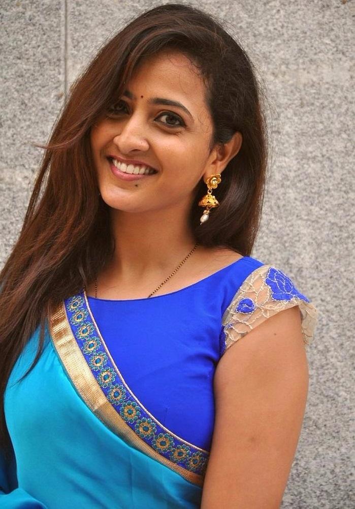 Lasya sky blue saree pictures