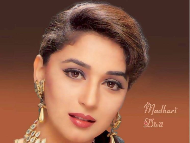 Madhuri dixit young face wallpapers