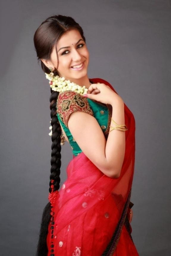 Nikki galrani red saree hot pictures