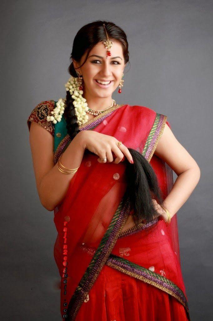 Nikki galrani red saree pictures