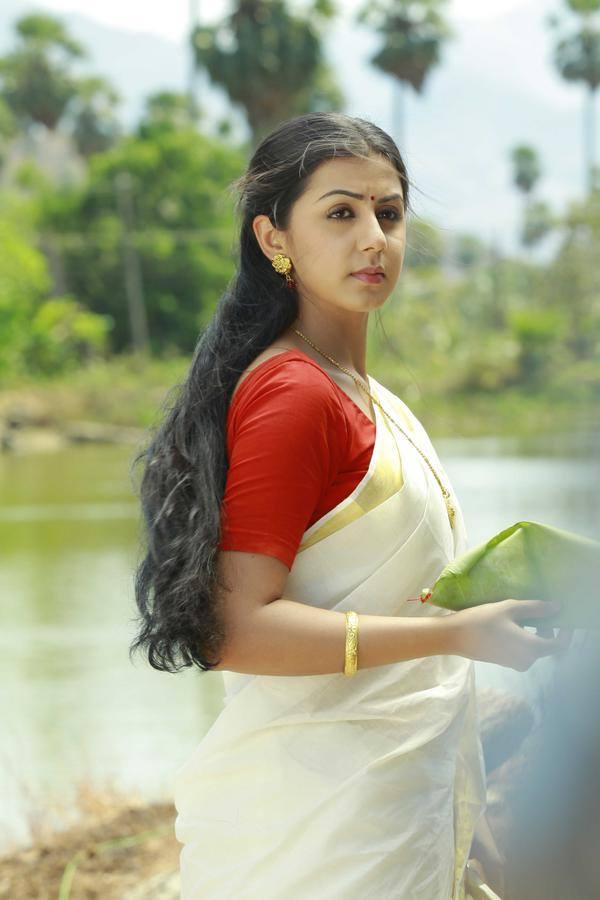 Nikki galrani white saree pictures