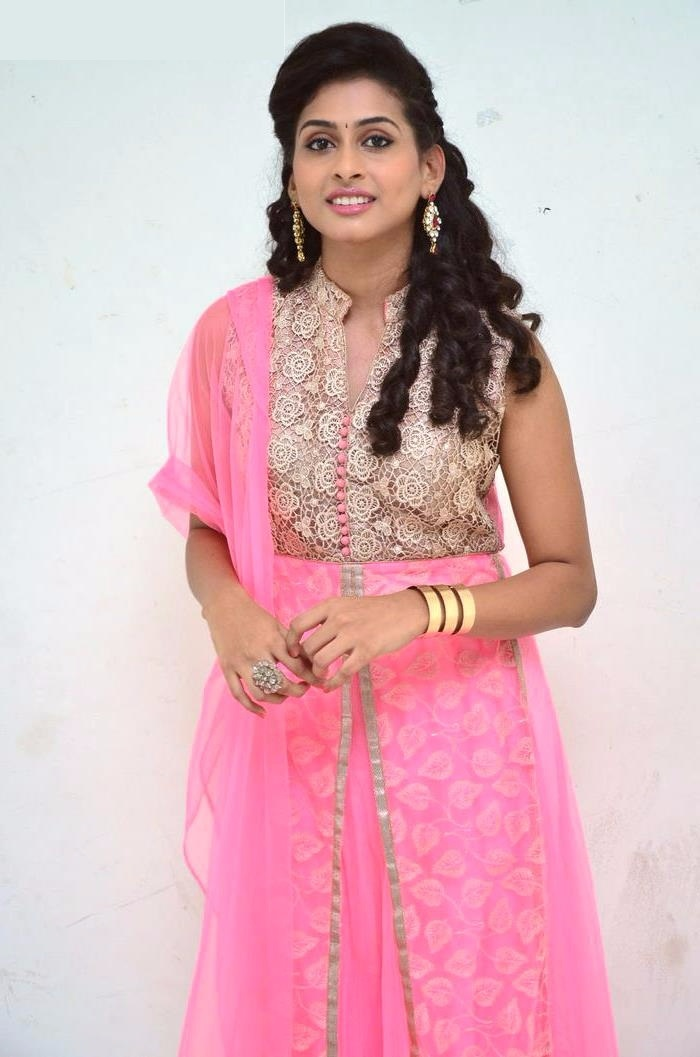 Nithya naresh pink color dress wallpaper