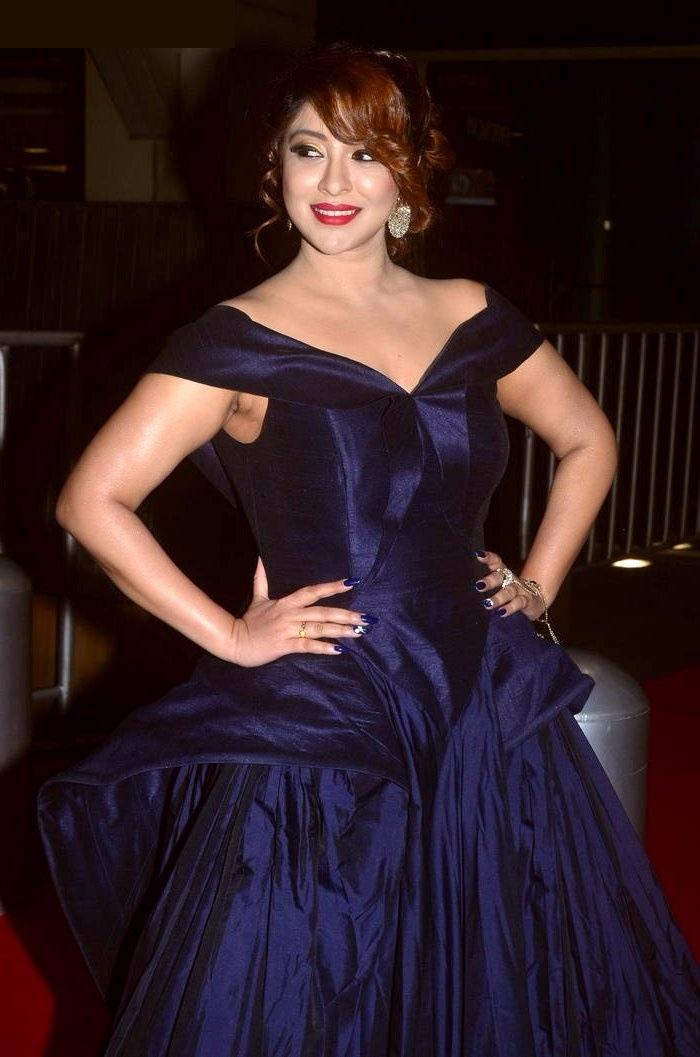 Payal ghosh cute blue dress photos